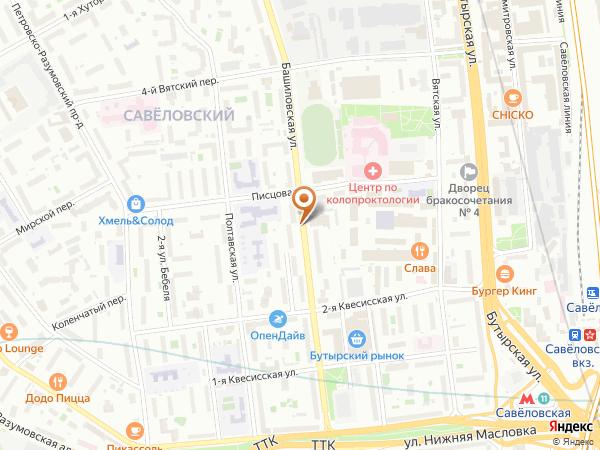 Остановка Башиловская ул. - Гор. б-ца № 24 в Москве