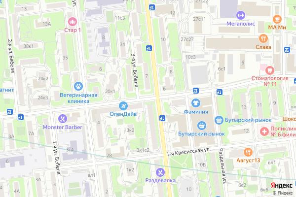 Ремонт телевизоров Улица 2 я Квесисская на яндекс карте