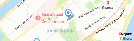 Москвич на карте Москвы