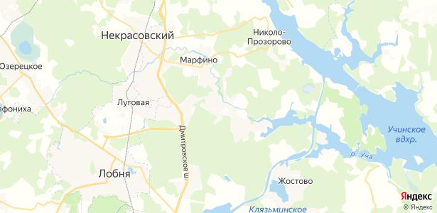 Федоскино на карте