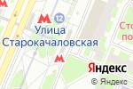 Схема проезда до компании Станция Улица Старокачаловская в Москве