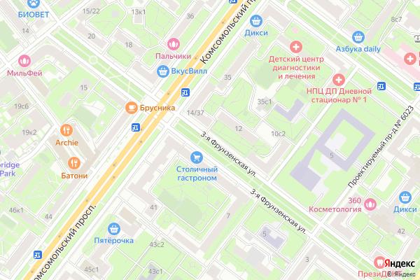 Ремонт телевизоров Улица 3 я Фрунзенская на яндекс карте