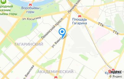Местоположение на карте пункта техосмотра по адресу г Москва, ул Вавилова, д 21