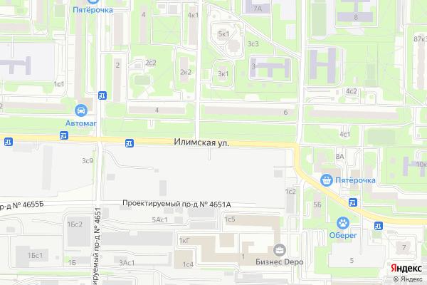 Ремонт телевизоров Улица Илимская на яндекс карте