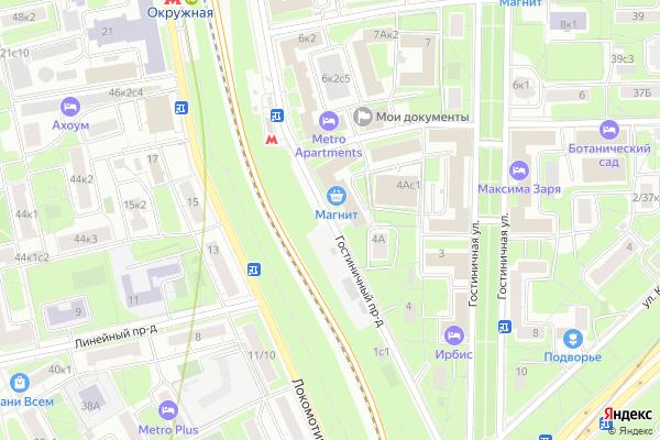 Ремонт телевизоров Гостиничный проезд на яндекс карте
