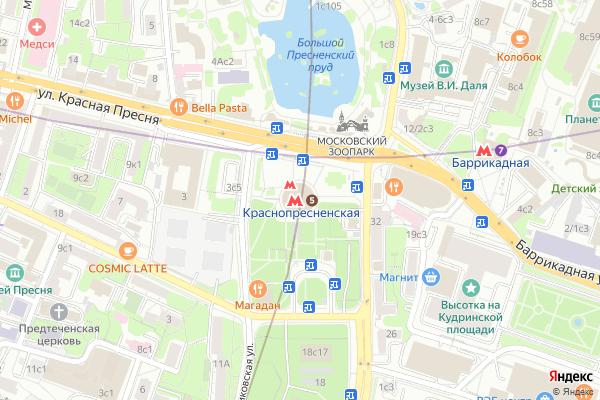 Ремонт телевизоров Метро Краснопресненская на яндекс карте