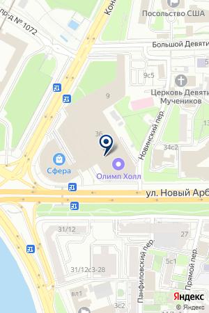 ФИТНЕС-КЛУБ I`ORANGE ARBAT на карте Москвы