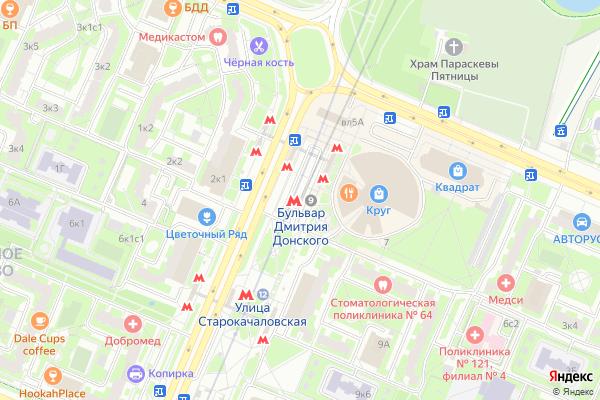 Ремонт телевизоров Метро Бульвар Дмитрия Донского на яндекс карте