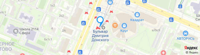 метро Бульвар Дмитрия Донского
