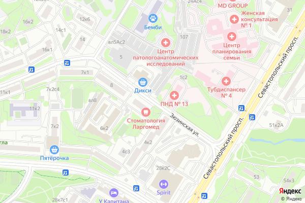 Ремонт телевизоров Улица Зюзинская на яндекс карте