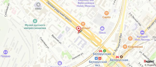 Карта расположения пункта доставки Москва Ленинградский в городе Москва