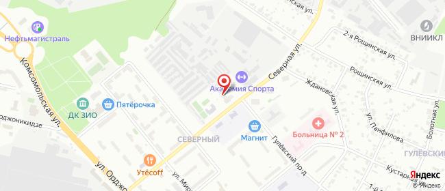 Карта расположения пункта доставки Подольск Северная в городе Подольск