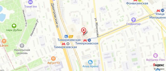 Карта расположения пункта доставки Москва Яблочкова в городе Москва