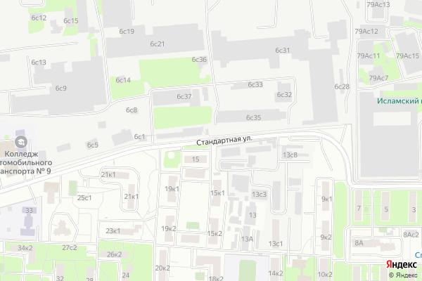Ремонт телевизоров Улица Стандартная на яндекс карте