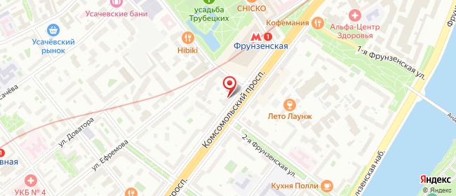 Карта расположения пункта доставки Москва Комсомольский в городе Москва