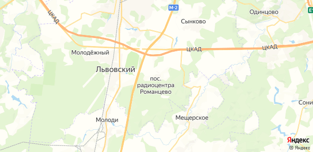 """радиоцентра """"Романцево"""" на карте"""