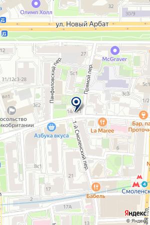 ГЕНПОСТ на карте Москвы