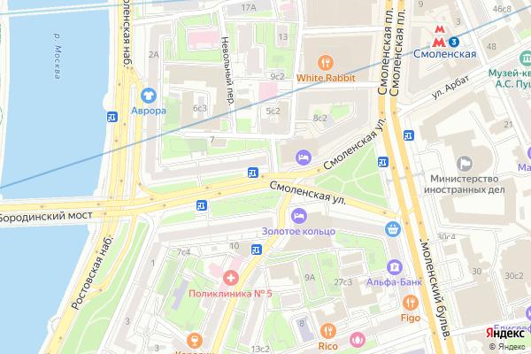 Ремонт телевизоров Улица Смоленская на яндекс карте