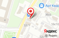 Схема проезда до компании Общество с ограниченной ответственностью АБХ КРАХМАЛ + в Москве