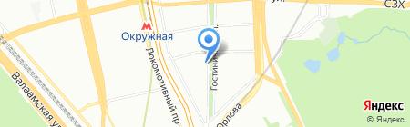 Евро-Волга на карте Москвы
