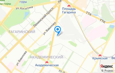 Местоположение на карте пункта техосмотра по адресу г Москва, пр-кт 60-летия Октября, д 15Б