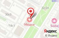 Схема проезда до компании Золотое Яблоко в Москве