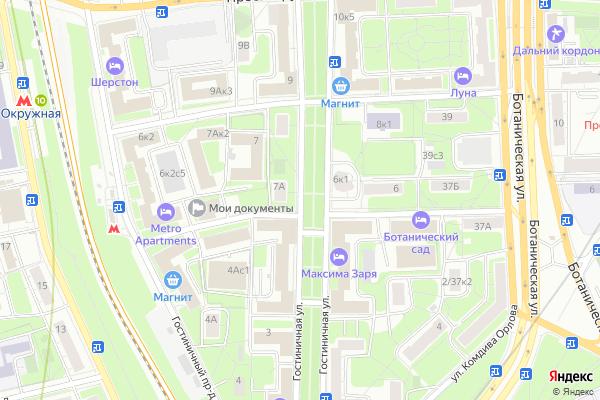 Ремонт телевизоров Улица Гостиничная на яндекс карте