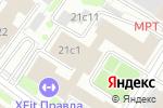 Схема проезда до компании Планета Фитнес в Москве
