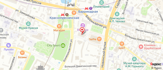 Карта расположения пункта доставки Москва Конюшковский в городе Москва