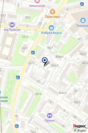 АВАРИЙНО-ВОССТАНОВИТЕЛЬНОЕ ПРЕДПРИЯТИЕ ПРЕСНЯ на карте Москвы