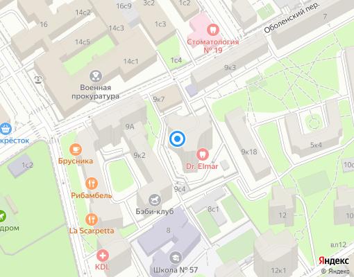 Товарищество собственников жилья «Оболенский 9» на карте Москвы