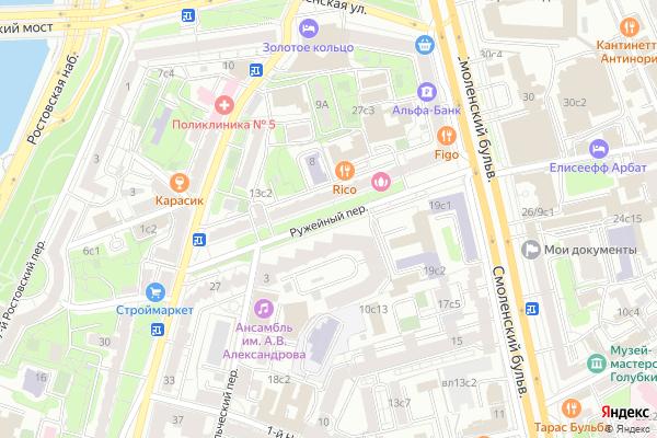 Ремонт телевизоров Ружейный переулок на яндекс карте