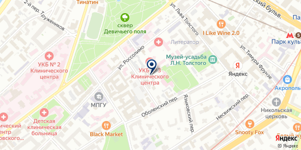 Харчевниковъ на карте Москве
