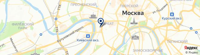 Расположение клиники GMS Clinic на Смоленской