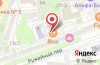 Схема проезда до компании Техбарт в Москве