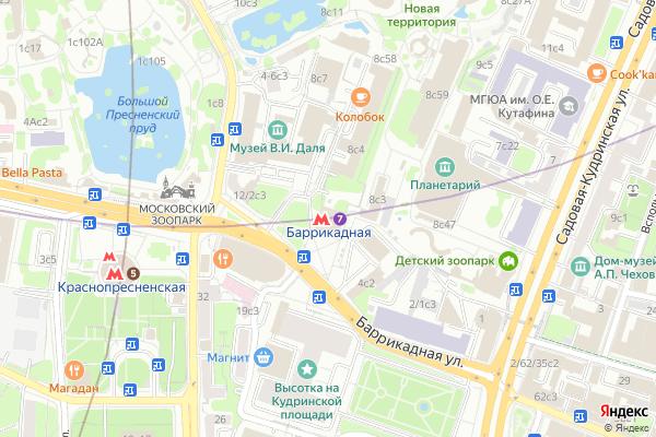 Ремонт телевизоров Метро Баррикадная на яндекс карте