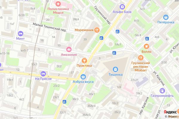 Ремонт телевизоров Улица Большая Грузинская на яндекс карте