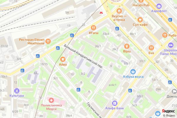 Ремонт телевизоров Большой Кондратьевский переулок на яндекс карте
