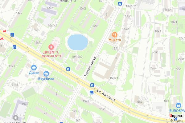 Ремонт телевизоров Улица Керченская на яндекс карте