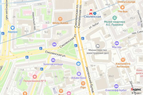 Ремонт телевизоров Смоленская Сенная площадь на яндекс карте