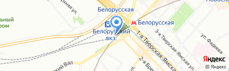 Турбери на карте Москвы