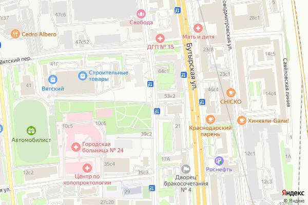 Ремонт телевизоров Улица Вятская на яндекс карте