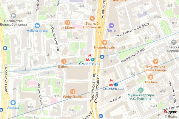Ремонт телевизоров Метро Смоленская на яндекс карте