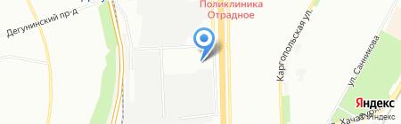 Автомойка на Алтуфьевском шоссе на карте Москвы