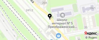 Крытая автостоянка на карте Москвы