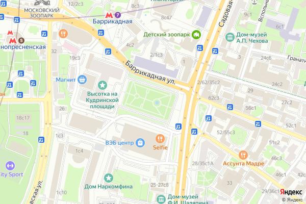 Ремонт телевизоров Кудринская площадь на яндекс карте