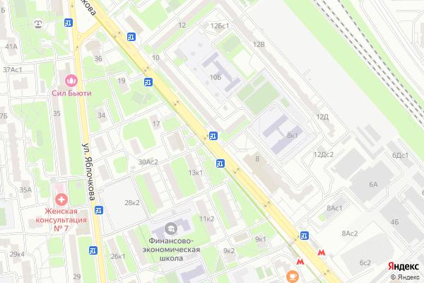 Ремонт телевизоров Улица Милашенкова на яндекс карте