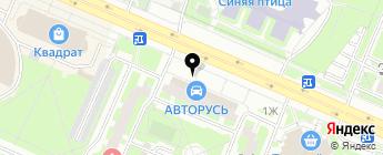 АВТОРУСЬ на карте Москвы