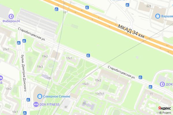 Ремонт телевизоров Улица Старобитцевская на яндекс карте