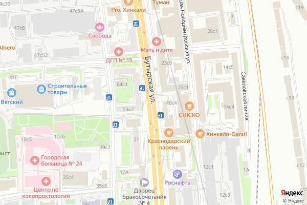 Ремонт телевизоров Улица Бутырская на яндекс карте